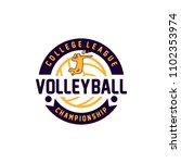 volleyball badge design logo...   Shutterstock .eps vector #1102353974