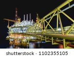 oil and gas offshore platform. | Shutterstock . vector #1102355105