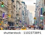 view down broadway in new york... | Shutterstock . vector #1102373891