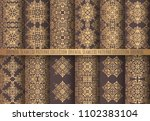 vector arabesque patterns.... | Shutterstock .eps vector #1102383104