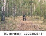 a little boy travels through... | Shutterstock . vector #1102383845