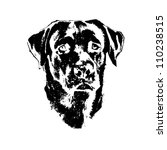 Illustration Of Dog  Labrador...