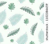 vector seamless summer pattern. ... | Shutterstock .eps vector #1102386659