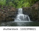 natural landscape waterfall in... | Shutterstock . vector #1102398821
