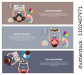 people working process   Shutterstock .eps vector #1102407971