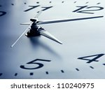 clock face with focus on center.... | Shutterstock . vector #110240975