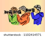 a photographer on the work | Shutterstock .eps vector #1102414571