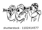 a photographer on the work | Shutterstock .eps vector #1102414577