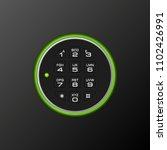 black steel safe door. armored... | Shutterstock . vector #1102426991