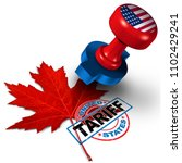 canada united states tariff on... | Shutterstock . vector #1102429241