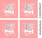 letters alphabet flower | Shutterstock .eps vector #1102429619
