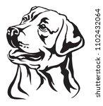 decorative portrait of dog...   Shutterstock .eps vector #1102432064