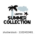 card with lettering new summer... | Shutterstock .eps vector #1102432481