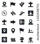 set of vector isolated black... | Shutterstock .eps vector #1102438751