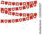 switzerland celebration bunting ... | Shutterstock .eps vector #1102442207