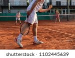 unrecognizable tennis player... | Shutterstock . vector #1102445639