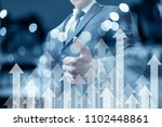 businessman shows a hand good.... | Shutterstock . vector #1102448861