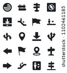set of vector isolated black... | Shutterstock .eps vector #1102461185