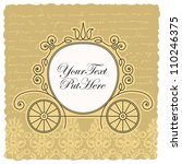 carriage wedding invitation... | Shutterstock .eps vector #110246375