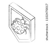 shield protection bug virus... | Shutterstock .eps vector #1102470017