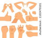 funny hand glasses shape ... | Shutterstock . vector #1102470101