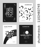 modern abstract monochrome... | Shutterstock .eps vector #1102483745