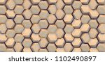 3d illustration. abstract... | Shutterstock . vector #1102490897
