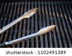 grill utensils tools fork tongs ... | Shutterstock . vector #1102491389