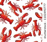 Seamless Pattern Of Lobsters....