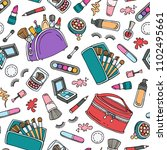 vector seamless pattern with... | Shutterstock .eps vector #1102495661