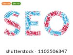 related words cloud of seo word ... | Shutterstock .eps vector #1102506347