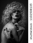 black and white fashion... | Shutterstock . vector #1102508135