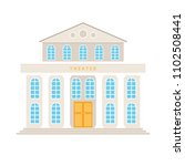 theatre building with columns... | Shutterstock . vector #1102508441