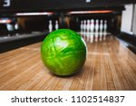 bowling ball on bowling alley | Shutterstock . vector #1102514837
