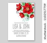 wedding invitation vector...   Shutterstock .eps vector #1102517759