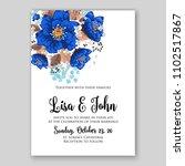 wedding invitation vector... | Shutterstock .eps vector #1102517867