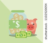saving money business | Shutterstock .eps vector #1102520054