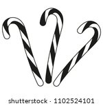 black and white candy cane... | Shutterstock .eps vector #1102524101