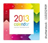 Colorful 2013 Calendar  Square...