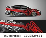 car decal vector  graphic... | Shutterstock .eps vector #1102529681