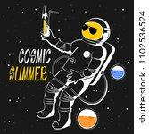 vector illustration astronaut... | Shutterstock .eps vector #1102536524