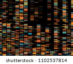 big genomic data visualization  ... | Shutterstock .eps vector #1102537814