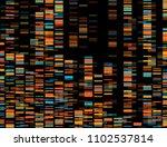 big genomic data visualization  ... | Shutterstock .eps vector #1102537814