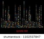 big genomic data visualization  ... | Shutterstock .eps vector #1102537847