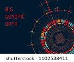 big genomic data visualization  ... | Shutterstock .eps vector #1102538411