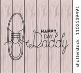 happy fathers day card with... | Shutterstock .eps vector #1102539491