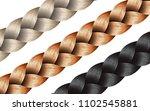 vector long hair braid model... | Shutterstock .eps vector #1102545881