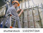 the engineer works in the... | Shutterstock . vector #1102547264