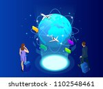 isometric web banner... | Shutterstock .eps vector #1102548461