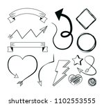 hand draw elements | Shutterstock .eps vector #1102553555